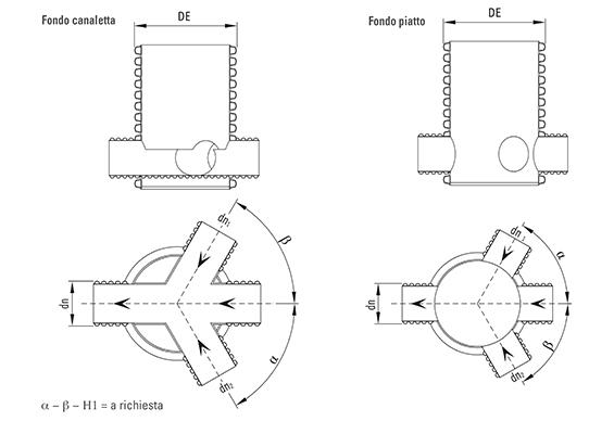 POZZETTI RICAVATI DA TUBO Disegno tecnico