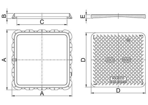 KIO B125 Disegno tecnico