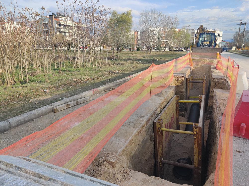 Κατασκευή δικτύου ομβρίων στην περιοχή Σιγής της πόλης Σερρών
